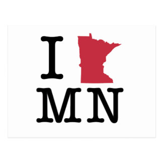 Amo Minnesota Tarjetas Postales