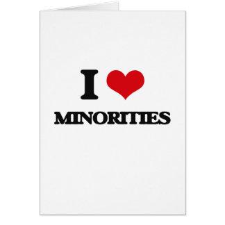 Amo minorías tarjeton