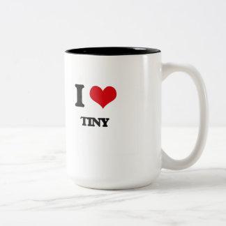 Amo minúsculo taza dos tonos