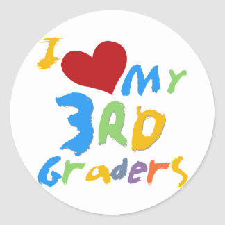 Amo mis 3ro camisetas y regalos de los graduadores pegatina redonda