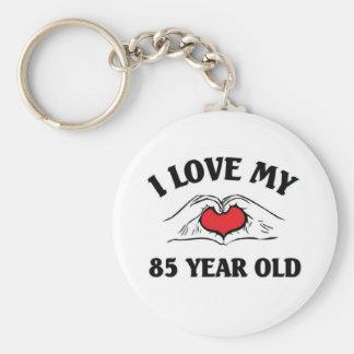 Amo mis 85 años llavero redondo tipo pin