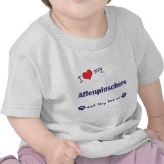 Amo mis Affenpinschers (los perros múltiples) Camiseta