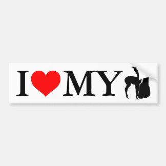 Amo mis alpacas - pegatina para el parachoques pegatina para auto