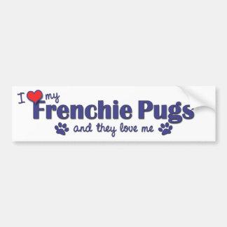Amo mis barros amasados de Frenchie (los perros mú Pegatina Para Auto