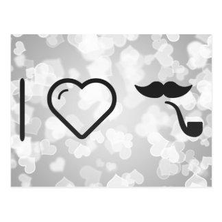 Amo mis bigotes tarjeta postal