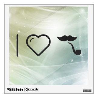 Amo mis bigotes vinilo decorativo
