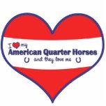 Amo mis caballos cuartos americanos (caballos múlt esculturas fotográficas