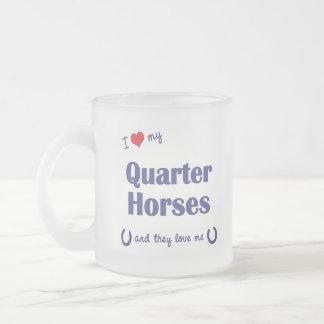 Amo mis caballos cuartos (los caballos múltiples) tazas