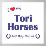 Amo mis caballos de los toros (los caballos múltip impresiones