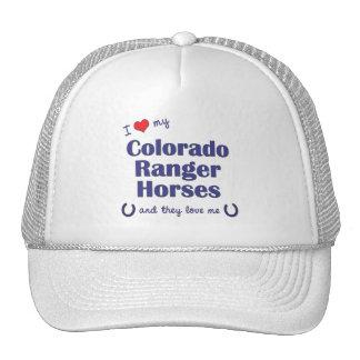 Amo mis caballos del guardabosques de Colorado (lo Gorros Bordados
