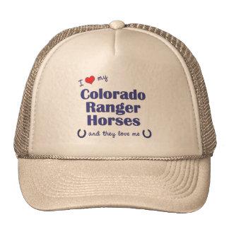 Amo mis caballos del guardabosques de Colorado (lo Gorra