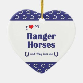 Amo mis caballos del guardabosques (los caballos adorno de cerámica en forma de corazón
