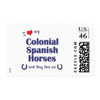 Amo mis caballos españoles coloniales (los caballo sellos