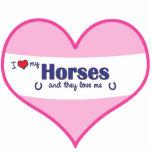 Amo mis caballos (los caballos múltiples) esculturas fotográficas