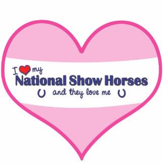 Amo mis caballos nacionales de la demostración lo escultura fotográfica