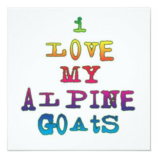 Amo mis cabras alpinas