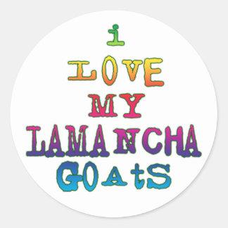 Amo mis cabras de LaMancha Etiquetas Redondas