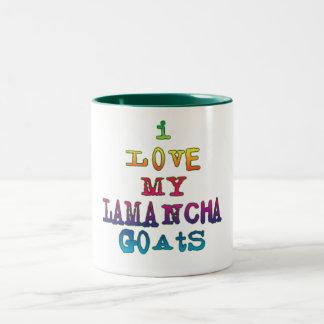 Amo mis cabras de LaMancha Taza De Dos Tonos