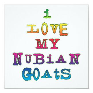 """Amo mis cabras de Nubian Invitación 5.25"""" X 5.25"""""""