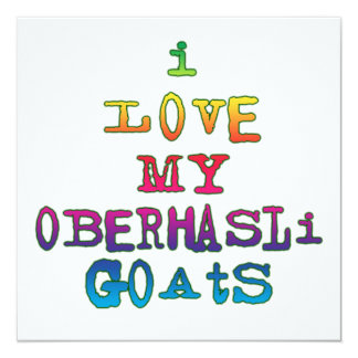 Amo mis cabras de Oberhasli Invitación 13,3 Cm X 13,3cm