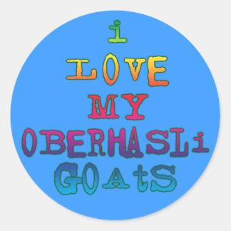 Amo mis cabras de Oberhasli Pegatinas Redondas