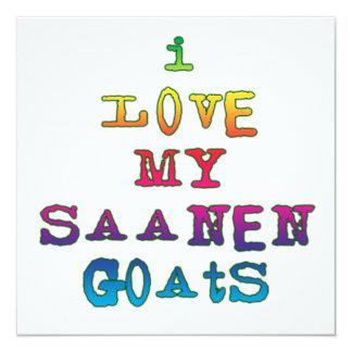 Amo mis cabras de Saanen Invitación 13,3 Cm X 13,3cm