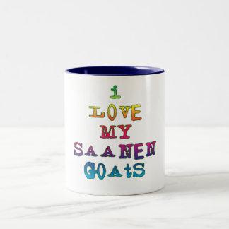 Amo mis cabras de Saanen Tazas De Café