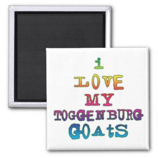 Amo mis cabras de Toggenburg Iman Para Frigorífico