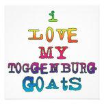 Amo mis cabras de Toggenburg Invitacion Personalizada