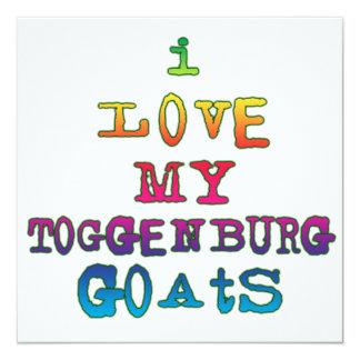 Amo mis cabras de Toggenburg Invitación 13,3 Cm X 13,3cm