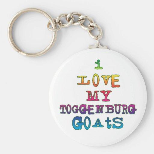 Amo mis cabras de Toggenburg Llavero Personalizado