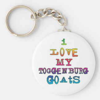 Amo mis cabras de Toggenburg Llavero Redondo Tipo Pin