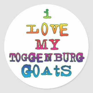 Amo mis cabras de Toggenburg Pegatina Redonda
