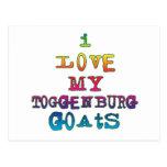 Amo mis cabras de Toggenburg Postal