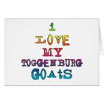 Amo mis cabras de Toggenburg Tarjeton