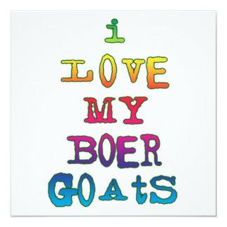 Amo mis cabras del Boer Invitación 13,3 Cm X 13,3cm