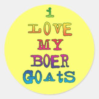 Amo mis cabras del Boer Etiqueta Redonda
