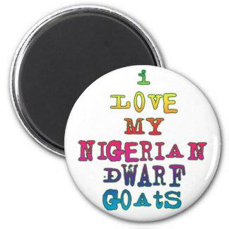 Amo mis cabras enanas nigerianas iman para frigorífico