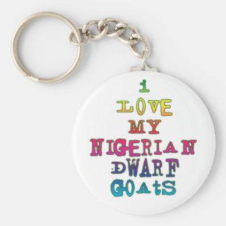 Amo mis cabras enanas nigerianas llavero redondo tipo pin