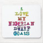 Amo mis cabras enanas nigerianas alfombrilla de ratón