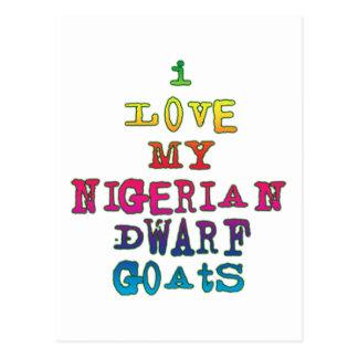 Amo mis cabras enanas nigerianas postal