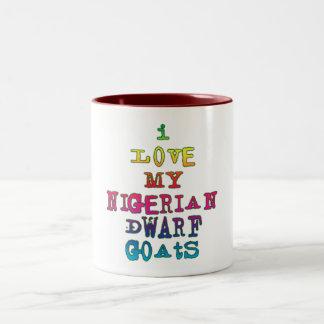 Amo mis cabras enanas nigerianas taza dos tonos