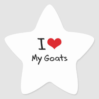 Amo mis cabras pegatinas forma de estrellaes