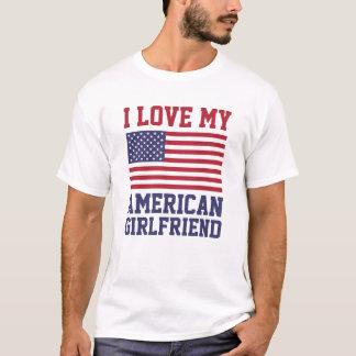 Amo mis camisetas americanas de la novia