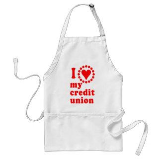 Amo mis camisetas de Credit Union Delantal