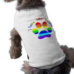 Amo mis camisetas del perro de la pata del arco ir camisetas de mascota