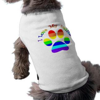 Amo mis camisetas del perro de la pata del arco playera sin mangas para perro