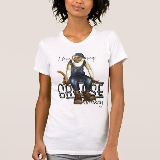 Amo mis camisetas divertidas del mono de grasa