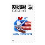 Amo mis camisetas y regalos del nieto del ejército sellos