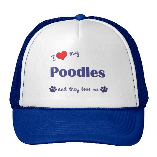 Amo mis caniches (los perros múltiples) gorra